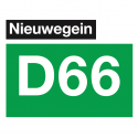 D66 Nieuwegein logo