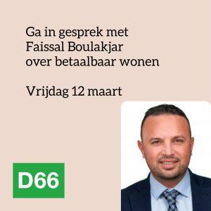Faissal Boulakjar op 12 maart