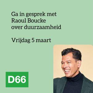 Raoul Boucke op vrijdag 5 maart